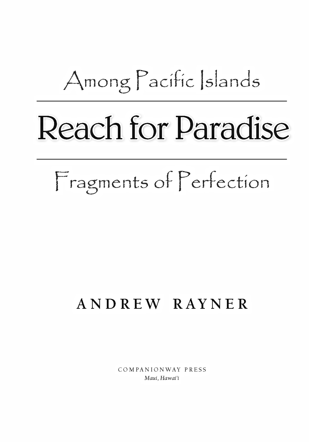 Among Pacific Islands