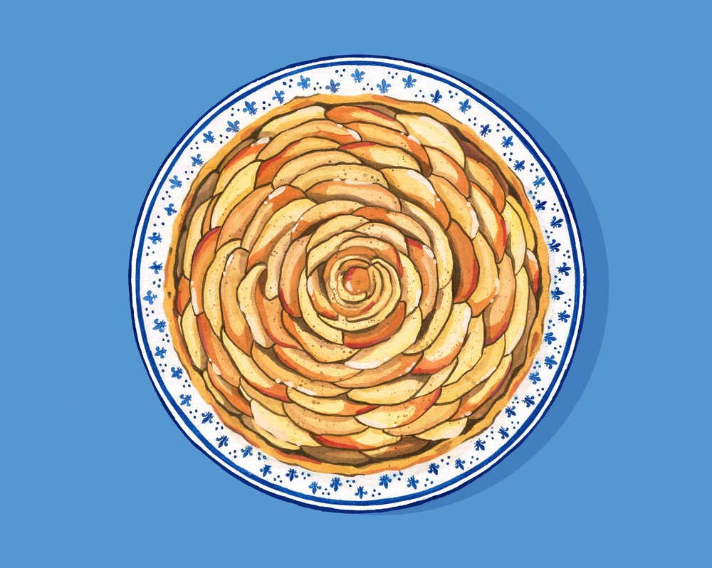 A is for Apple Tart Andrea Gonzalez illustration