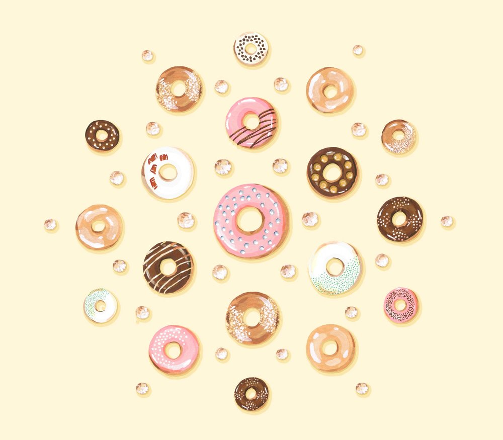 Andrea Gonzalez illustration D is for Donuts