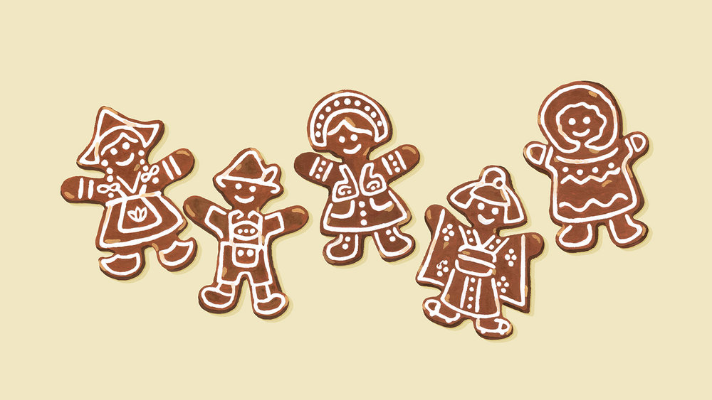Andrea Gonzalez illustration G is for Gingerbread Cookies