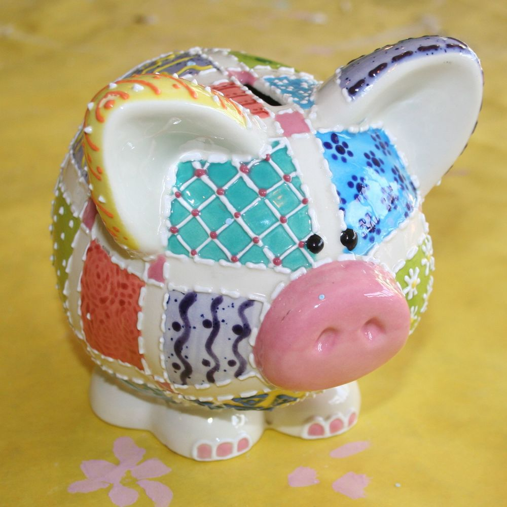 Patchwork Piggy Bank
