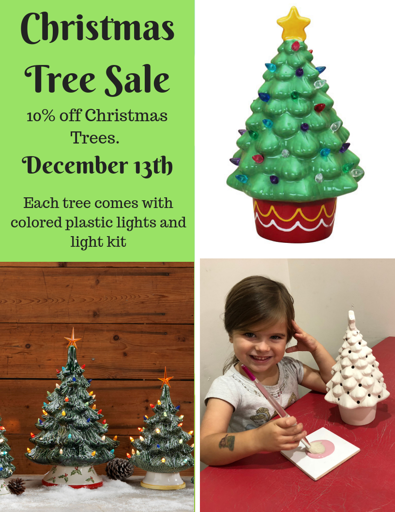 10% off Christmas Trees on December 13th
