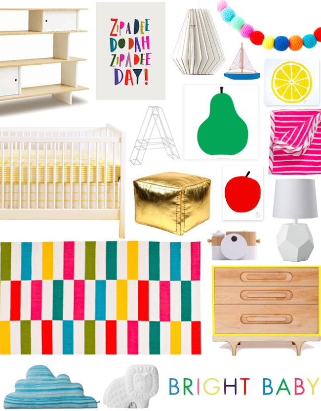 bright baby basics nursery board