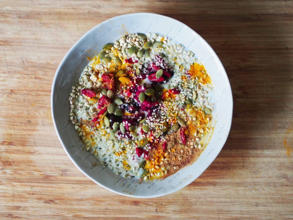 SPROUTED BUCKWHEAT AND COCONUT YOGURT BREAKFAST BOWL - Via Ashley Neese