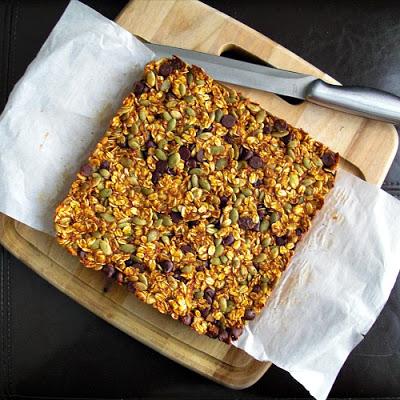 Fall Pantry Granola Bars -  Via Bake Something