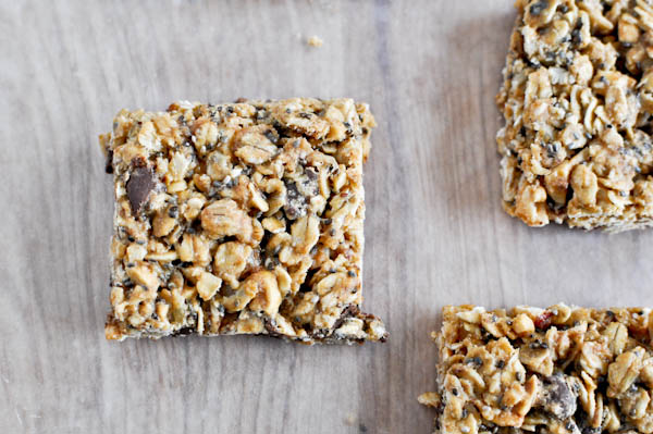 5 ingredient granola bars  via how sweet it is