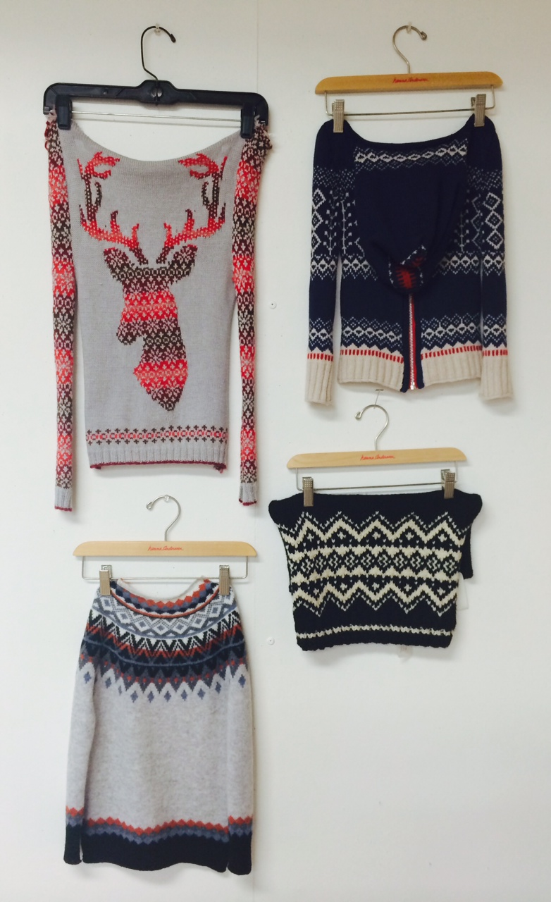 Holiday '14 sweater samples