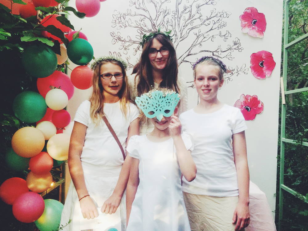 Liddiard and her nieces at Midsummer Mingle