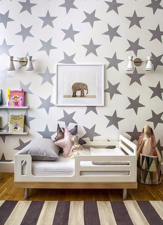 A starry kids room
