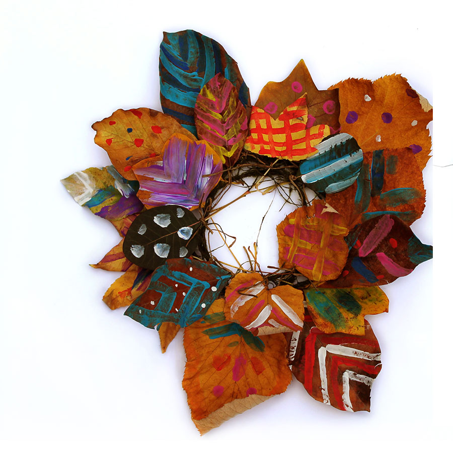 Painted Leaf Wreath image 7 Hanna Andersson