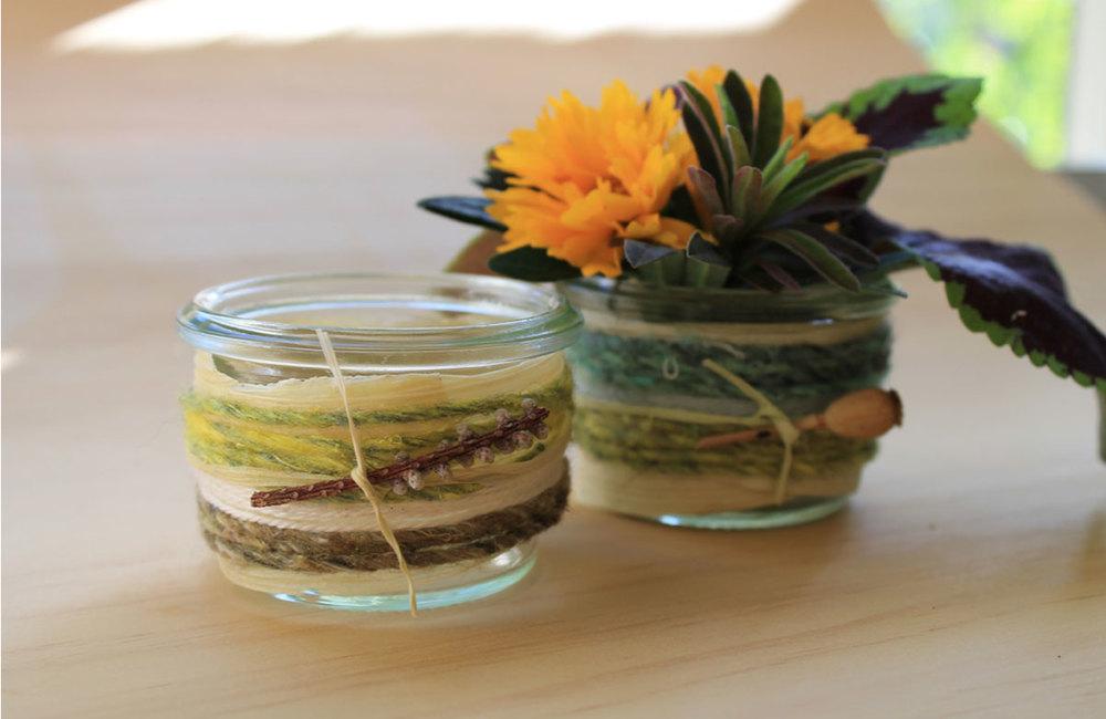 Hanna Andersson DIY Yarn Bomb Jars