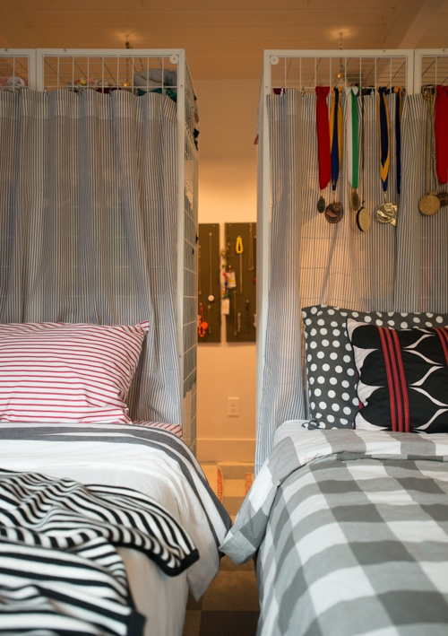 Swedish Stripe Sheet Set & Stripe Happy Throw