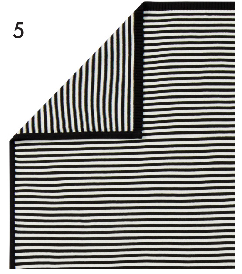 Black & White Striped Hanna Throw