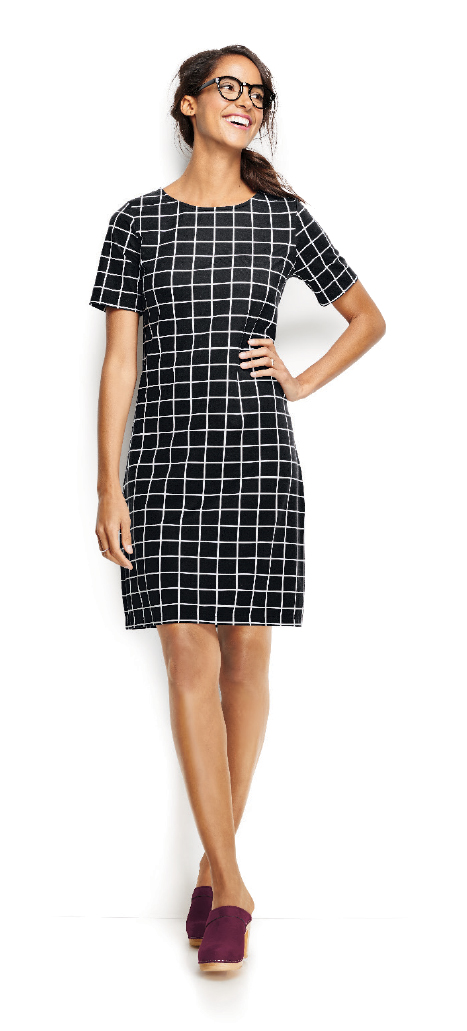 Window Pane Knit Dress