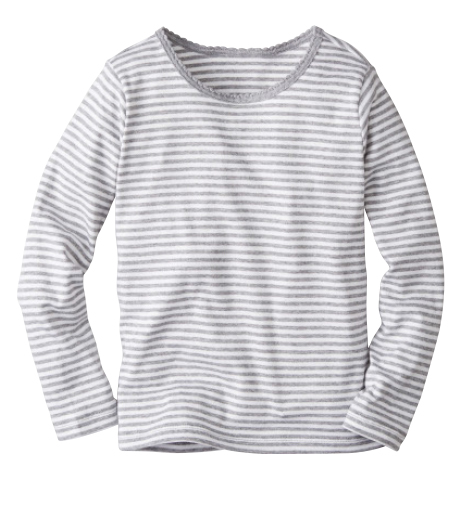 Grey Striped Pima Cotton Tee