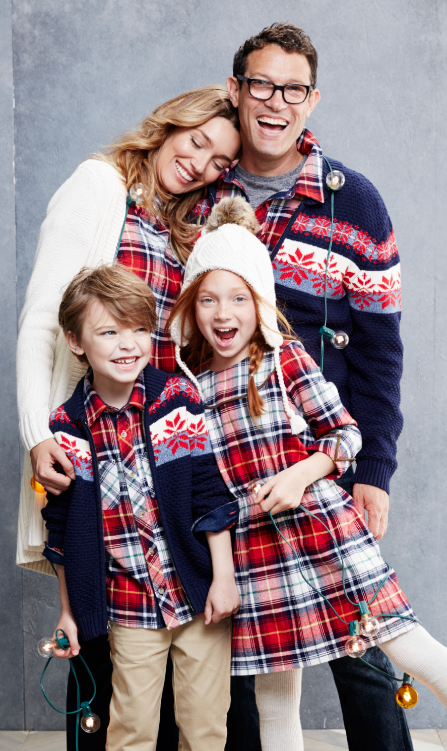 Blue Plaid Holiday Family Outfits - Hanna Andersson