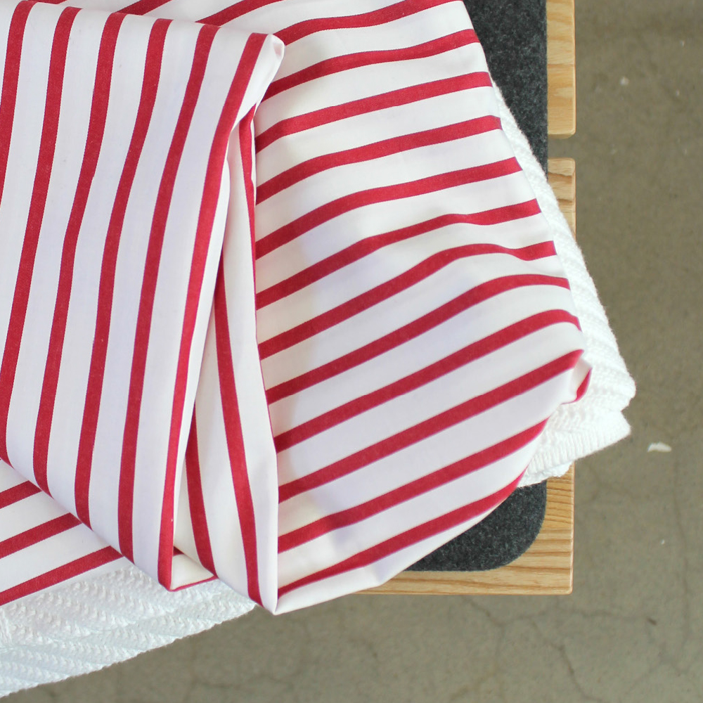 Swedish Red & White Stripes