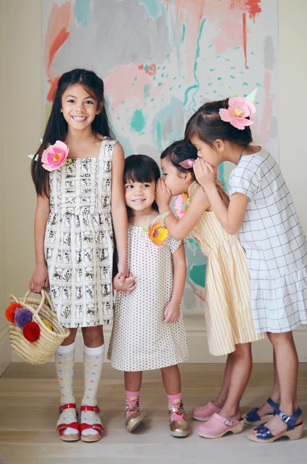 DIY floral corsage + easter dresses