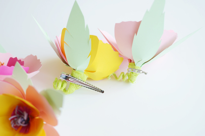 DIY flower Hair Pin