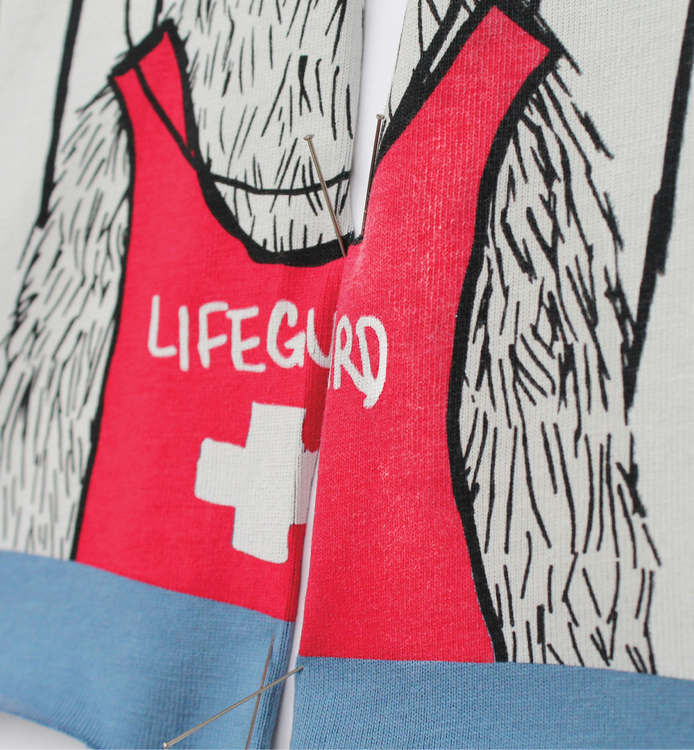 lifeguard summer llama t-shirt