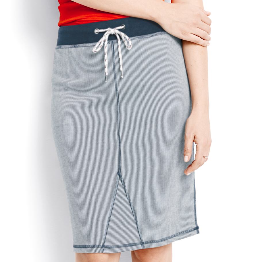 Women's Navy Knit Skirt