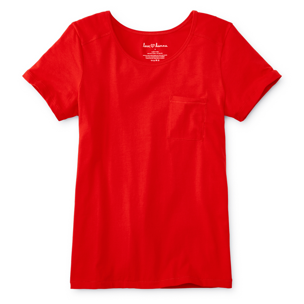 Women's Tomato Red Pima Cotton Tee