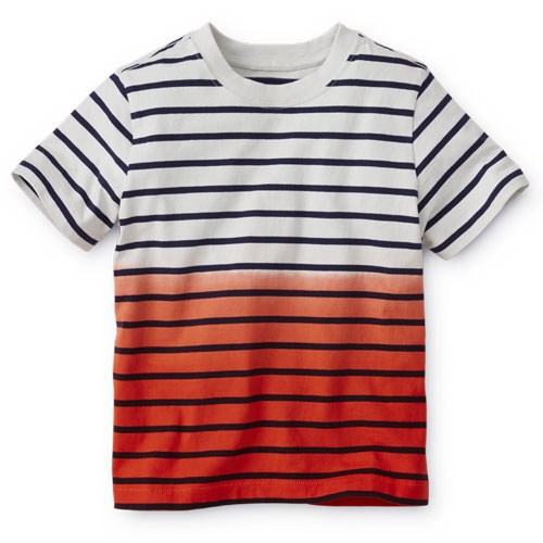 Boys Dip Dye Striped Tee