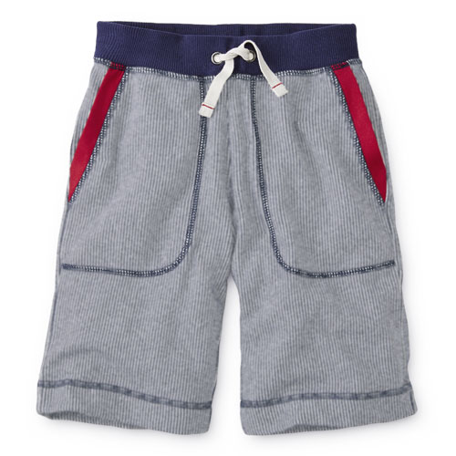 Boys Pin Stripe Knit Shorts - Hanna Andersson