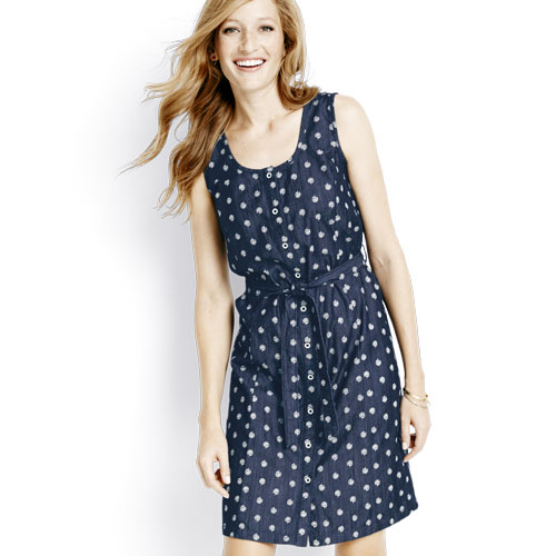 Denim Print Women's Dress - Hanna Andersson