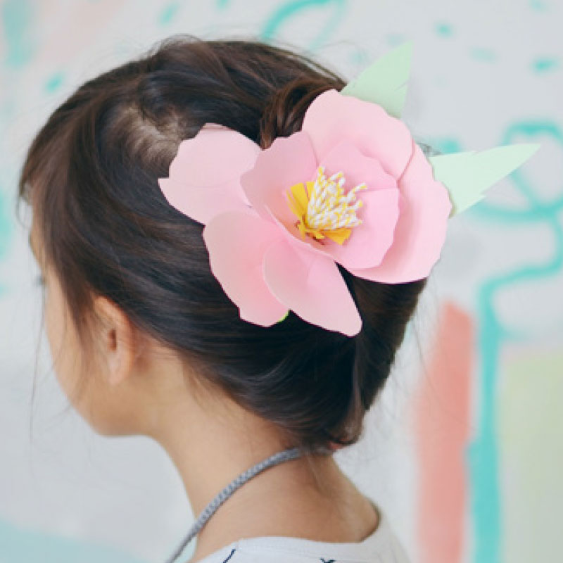 Paper flower pin  - not just for your hair!