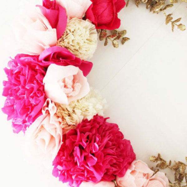 Paper Flower Wreath - Poppytalk