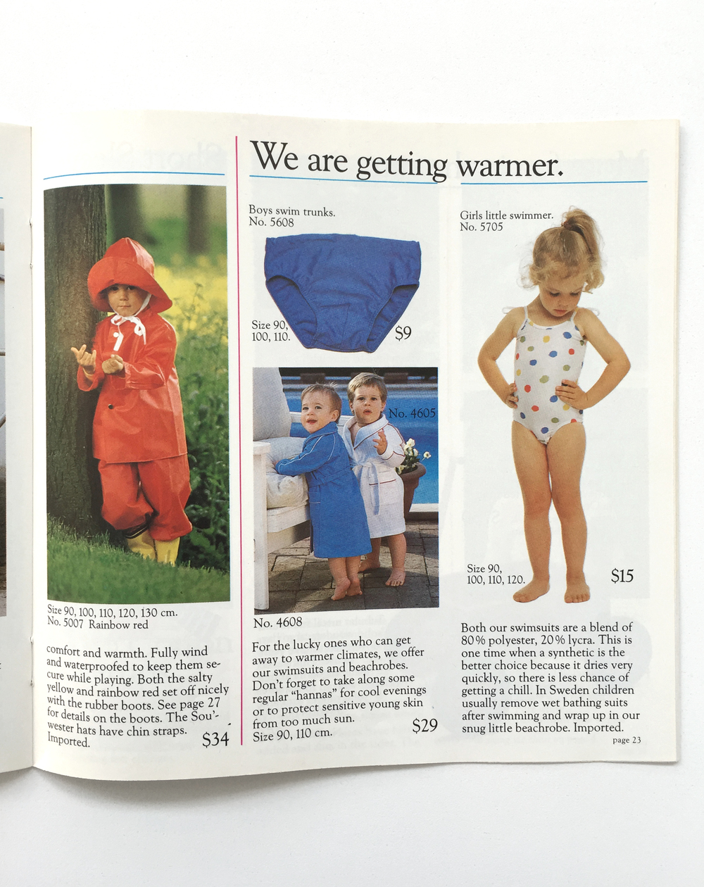 Hanna Andersson first swimsuits ever! - fall/winter 1985