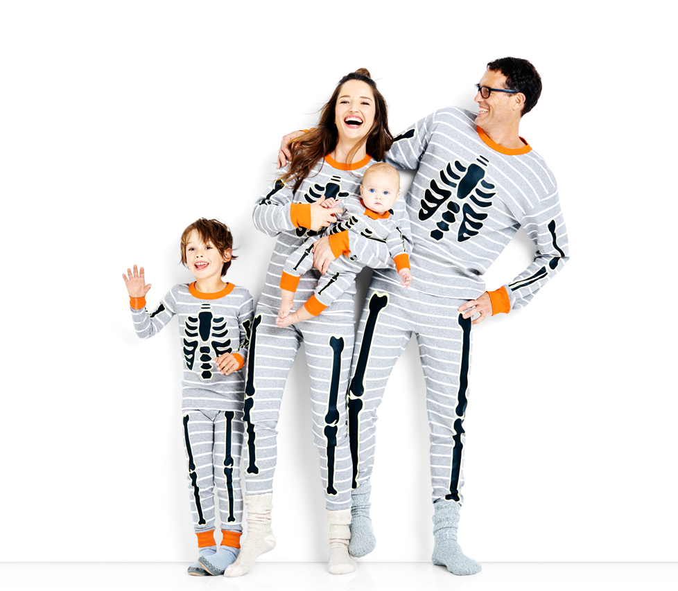 family skeleton pajamas