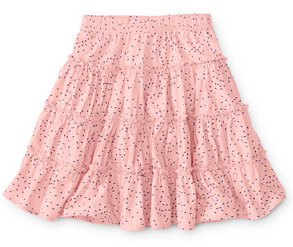 Tiered pink back to school skirt