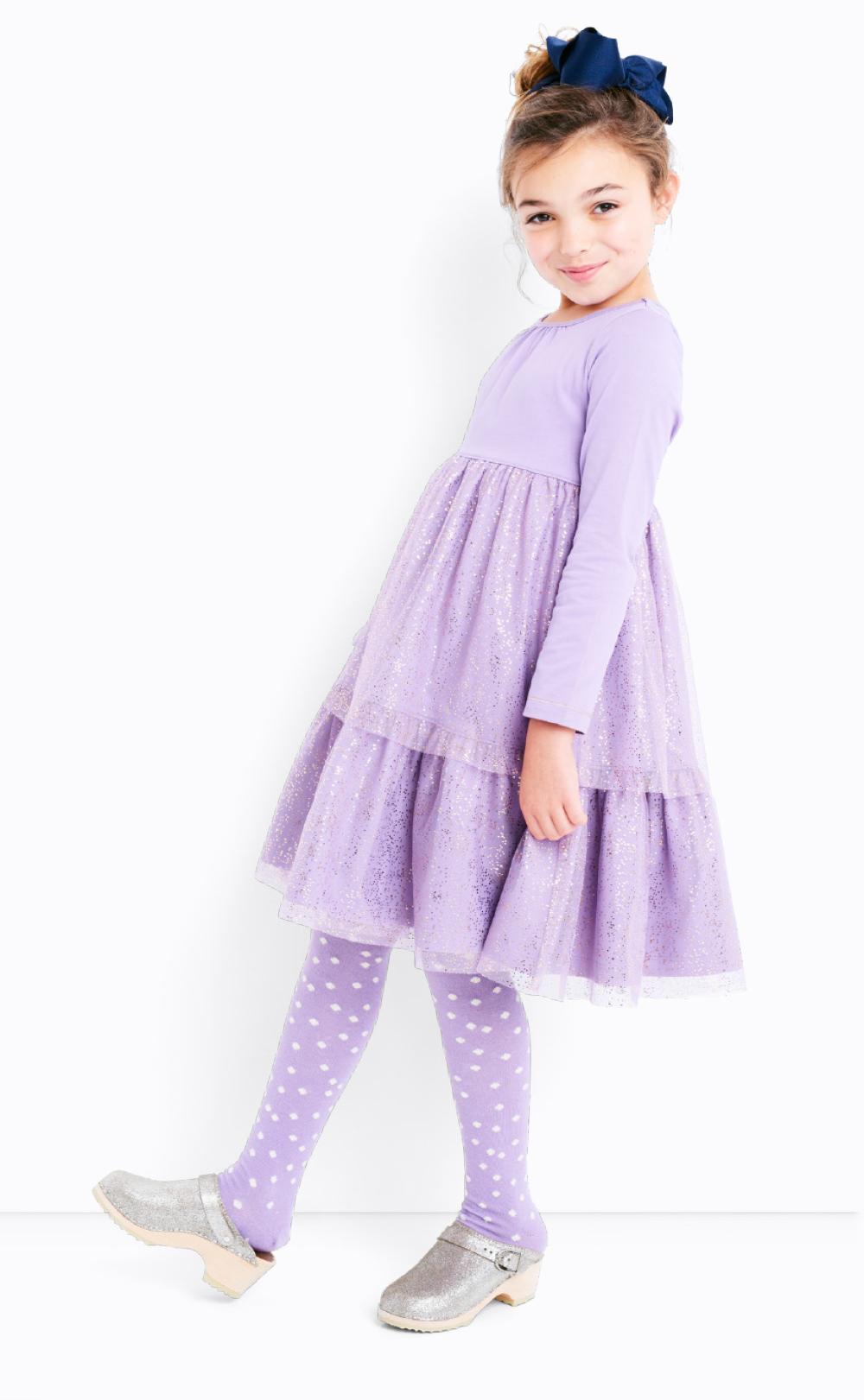 purple twirly sparkle dress
