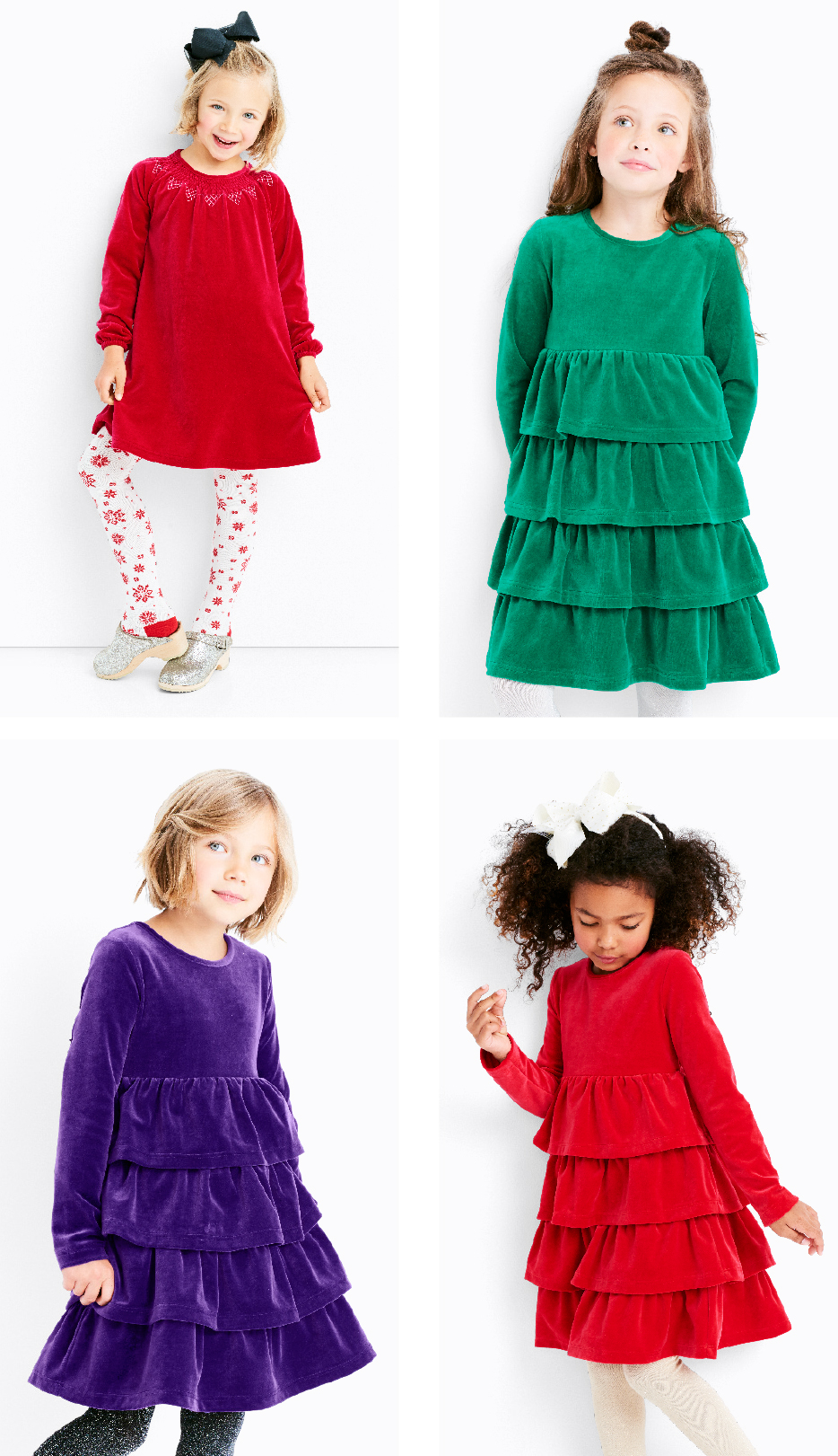 Dresses of the season - Velour Twirly Holiday Dress