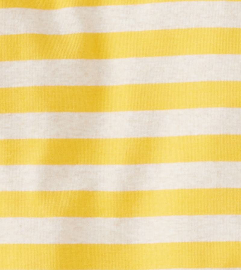Yellow Stripe Organic Cotton Long Johns