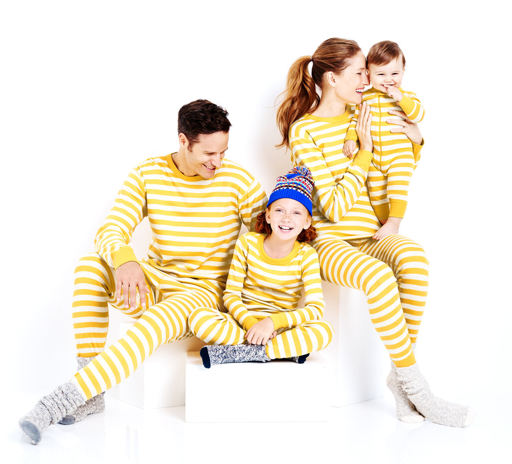 Yellow Stripe Organic Cotton Lohn Johns - Hanna Andersson