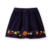 Embroidered Corduroy Girls Skirt