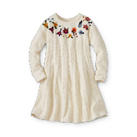 Girls Cable Knit Sweater Dress