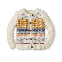 Girls Cable Knit Cardigan