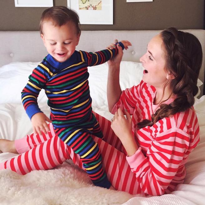 Emily Spier - Hanna Andersson Bright Stripe Family Pajamas