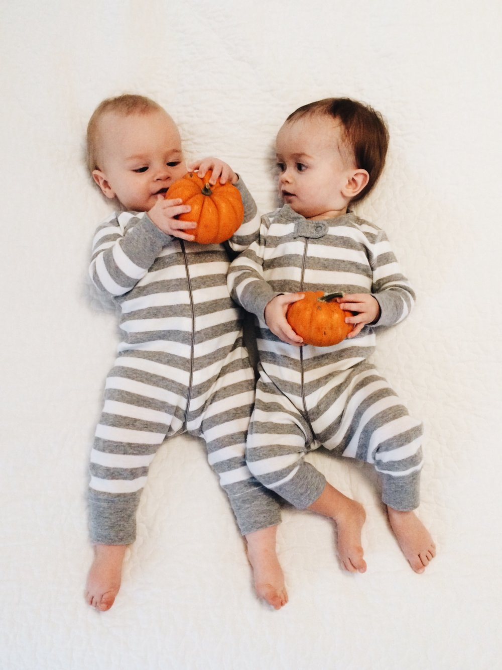 @goosefeathersdiy - Organic Cotton Baby Stripe Zip Sleepers