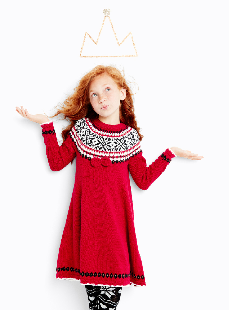 Sno Happy Girls Sweater Dress - Hanna Andersson
