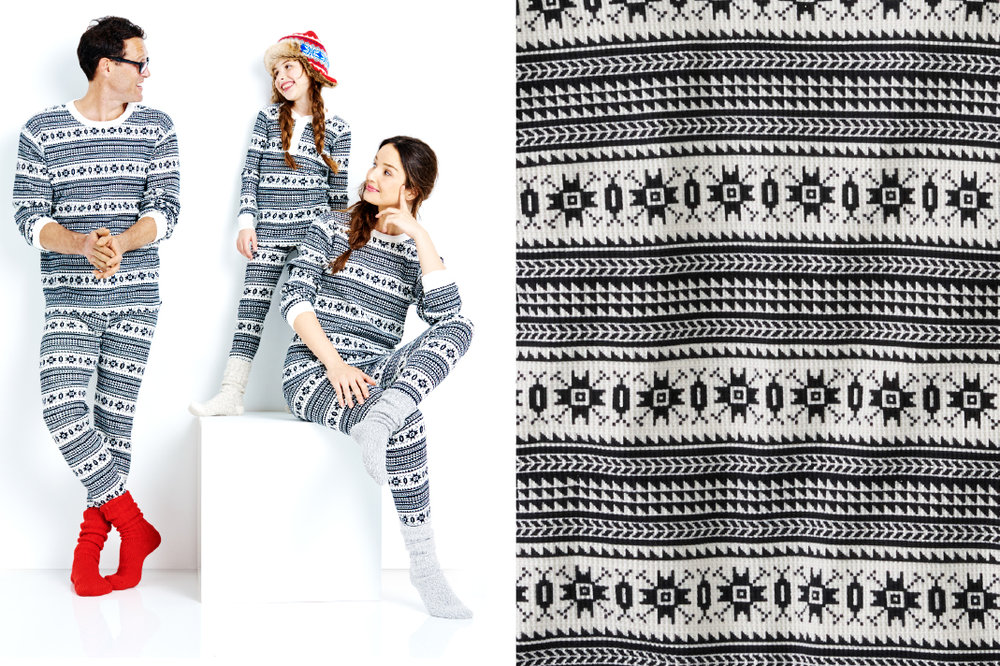 Fair Isle Family Thermal Pajamas