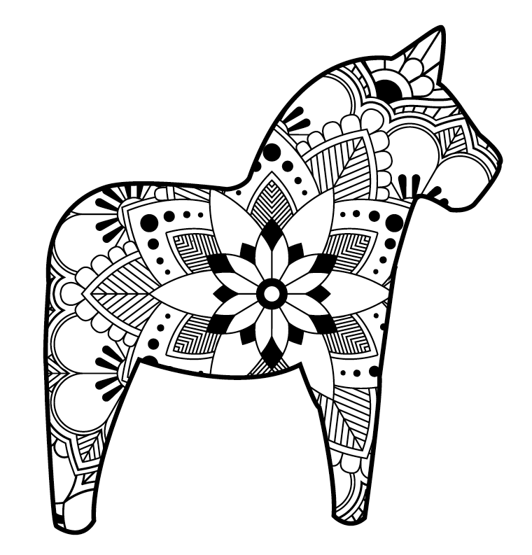 Diy The Hanna Blog Dala Coloring Page