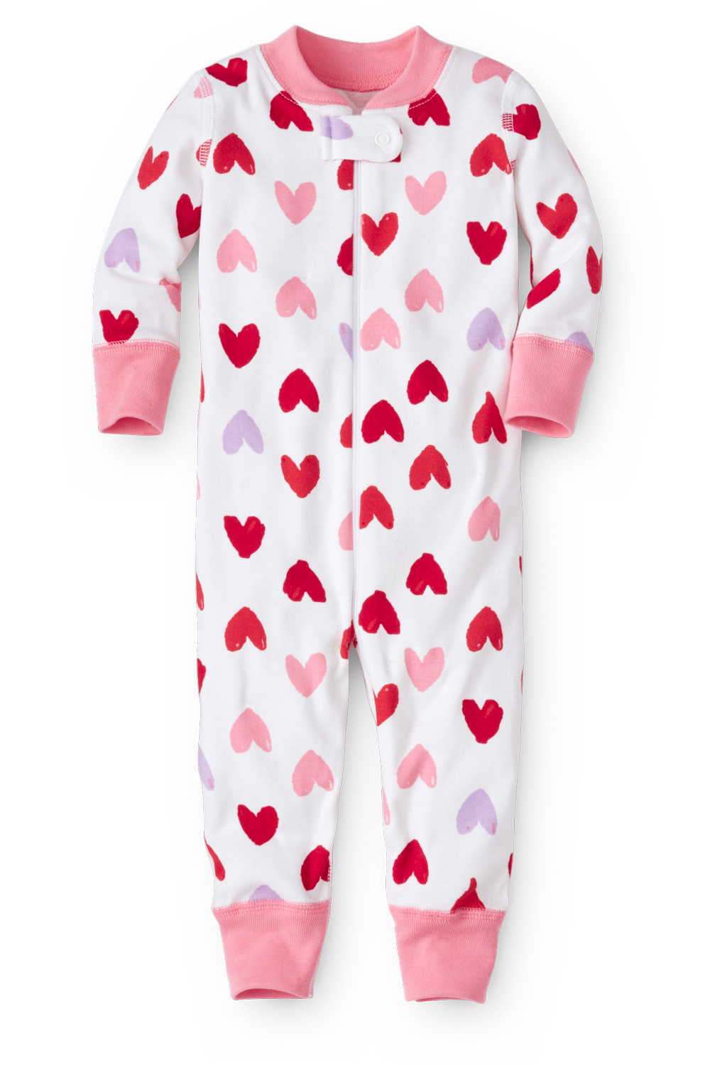 Valentine Hearts Baby Pajamas in Organic Cotton
