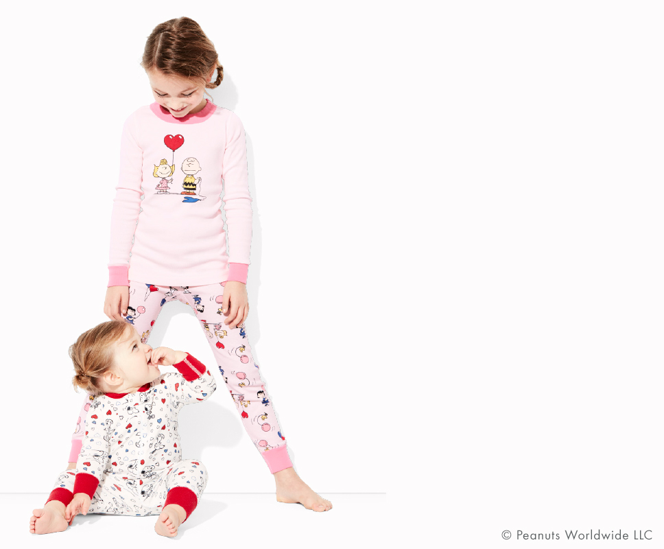 Charlie Brown Valentine Kids Pajamas