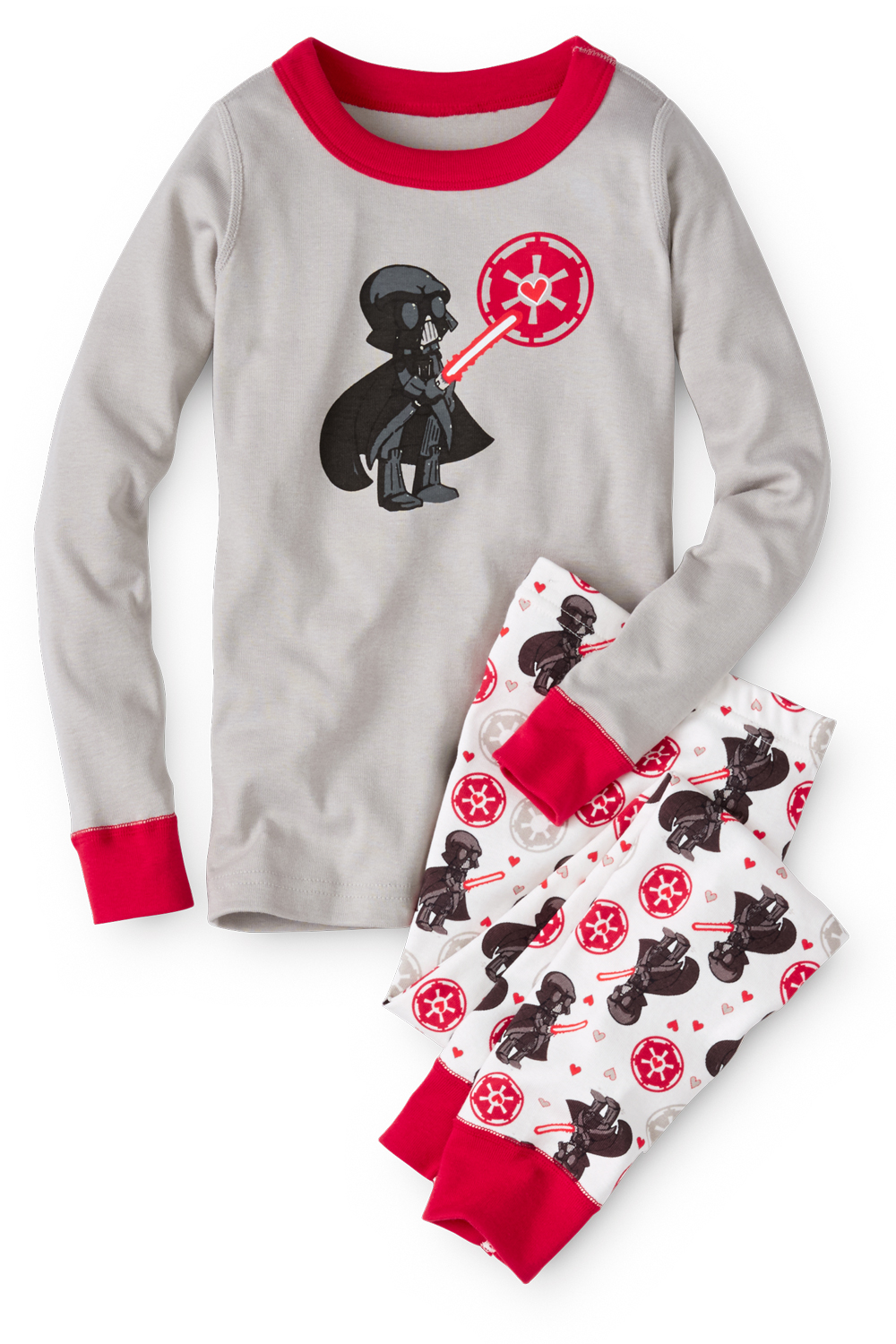 Valentine Star Wars Kids Pajamas in Organic Cotton