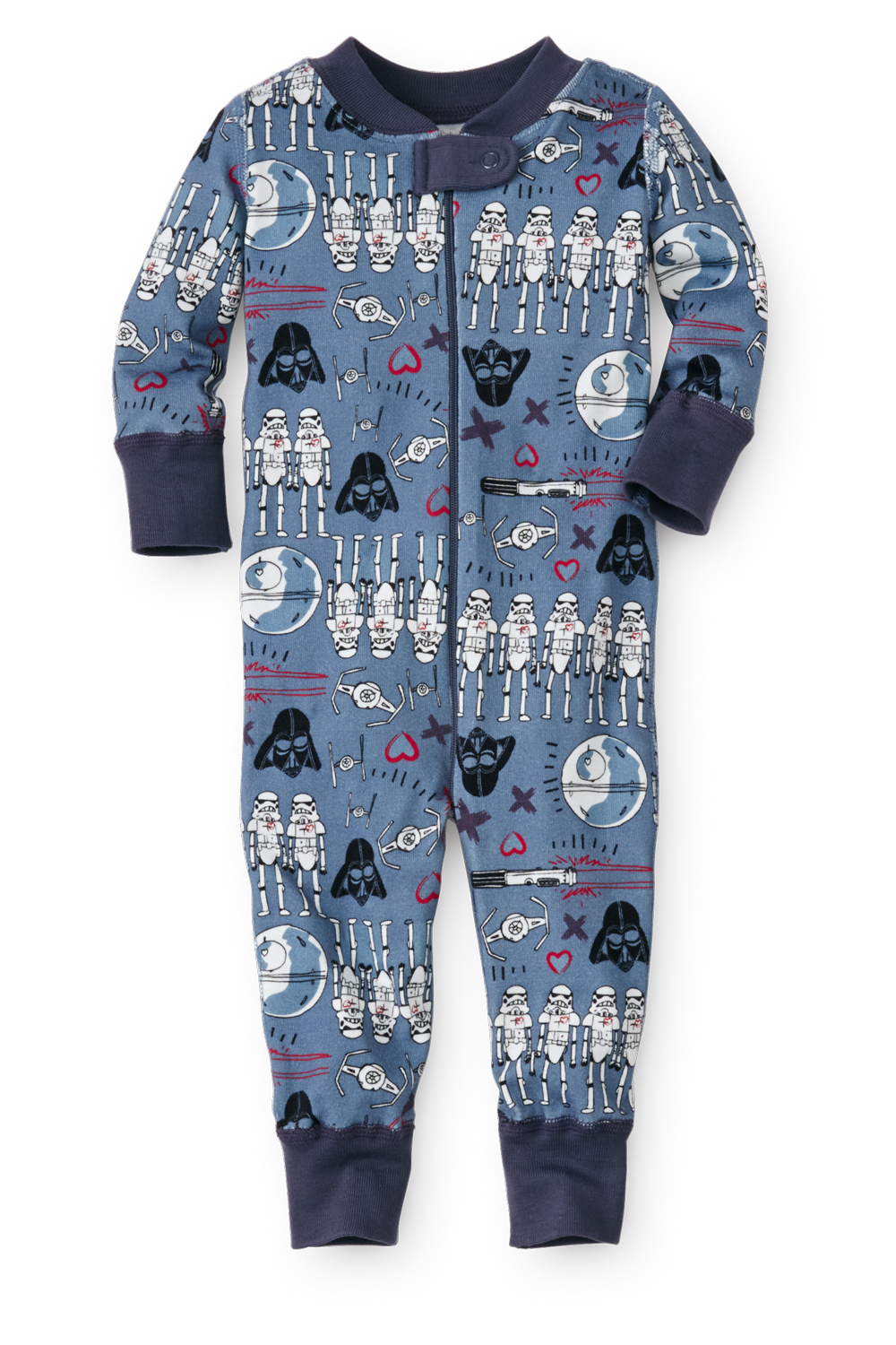 Valentine Star Wars Baby Pajamas in Organic Cotton